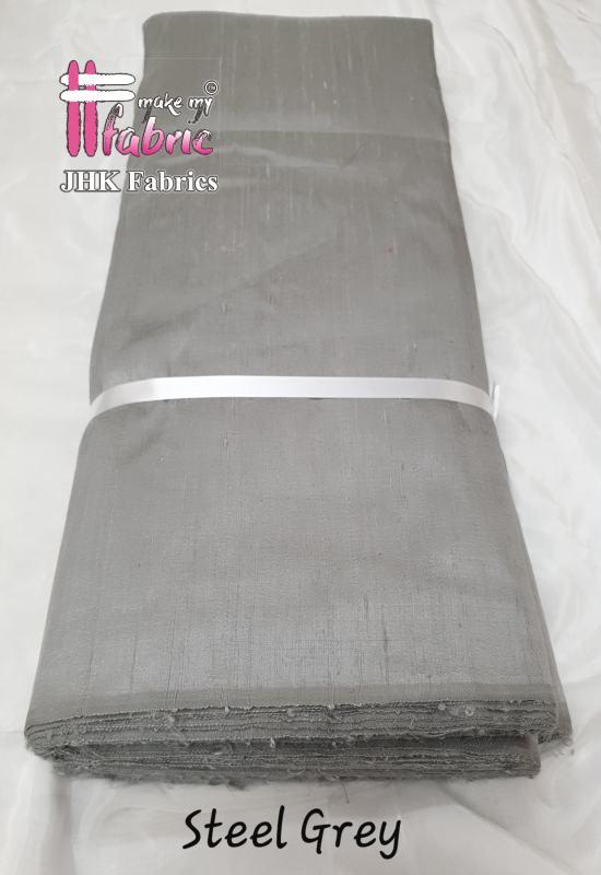 Steel Grey Rawsilk
